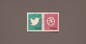 Social stamps free PSD