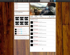 Twitter brand profile page PSD