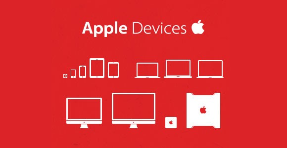 Apple icon set PSD