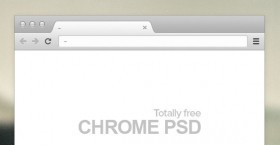 Chrome browser PSD mockup