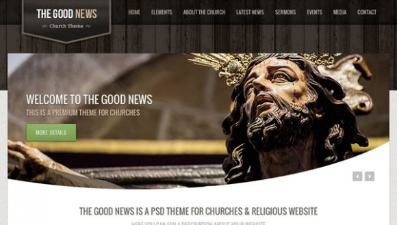 Church theme PSD