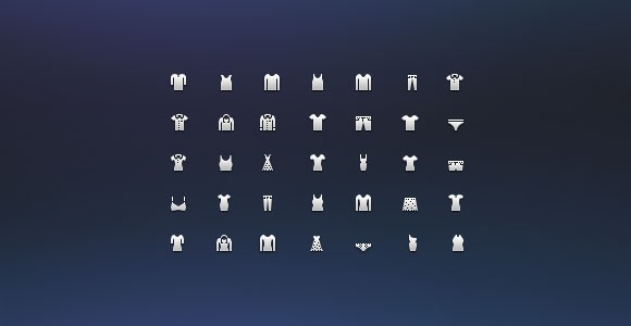 Costume icon set free PSD