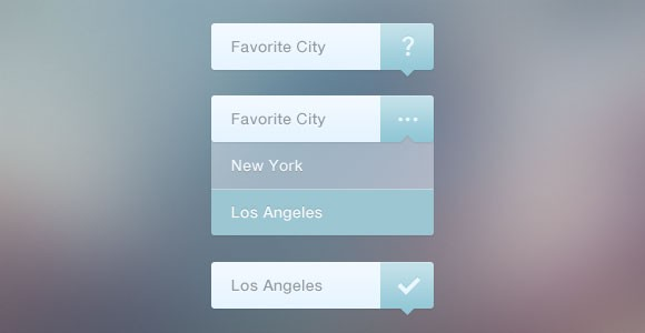 Dropdown navigation PSD