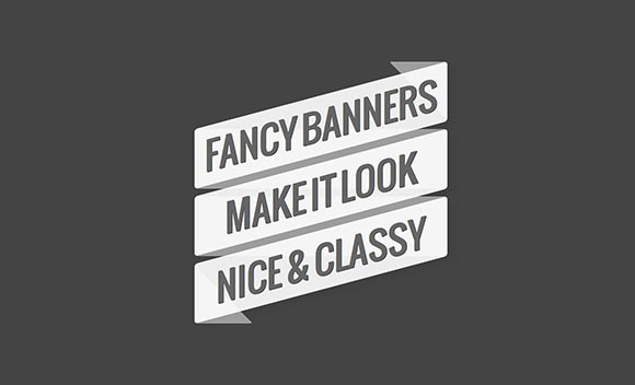 Fancy banners CSS