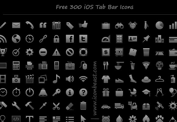 Free iPhone iPad icons symbols
