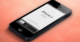 iPhone 5 mockup 3D free PSD
