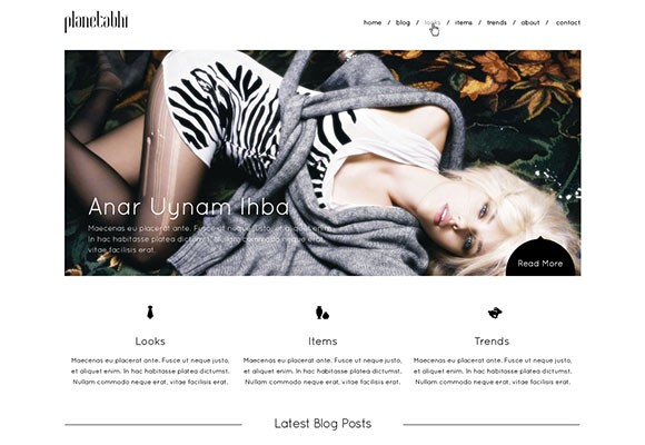 Minimal PSD website template