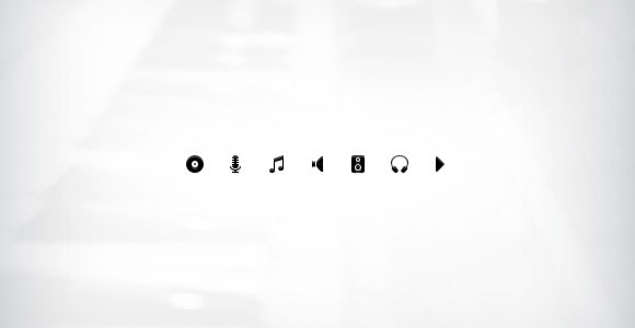 Music icon set free PSD