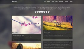 Obscura free PSD website