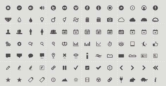 Set of 126 free PSD icons