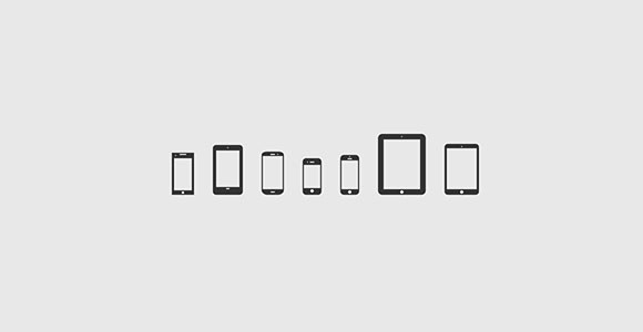 32 mobile devices icons PSD