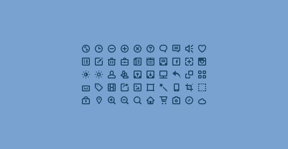 50 mini icons PSD
