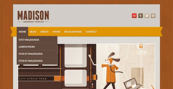 Madison free PSD website template