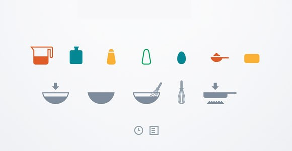 Free PSD cooking icons