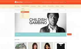 Bonfire Ecommerce PSD template