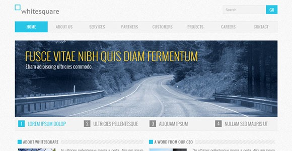 Corporate free PSD website template