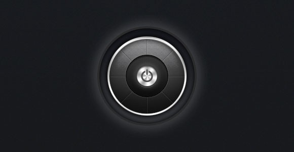 Dark power button PSD