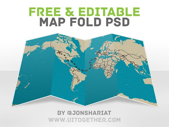 Free Psd Map Fold Freebiesbug