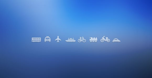 Free PSD transport icons