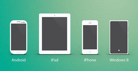 Multiple devices PSD mockups