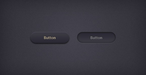 Circular and rounded PSD realistic buttons