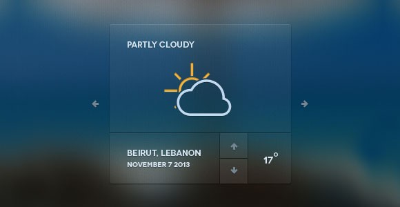 Web Weather Forecast Widget PSD