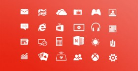 Windows 8 Metro PSD icons