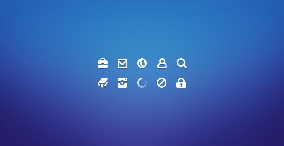 20x20 free PSD icons
