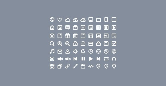 63 tiny PSD icons