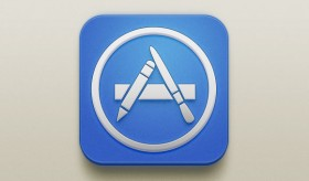 App Store free PSD icon