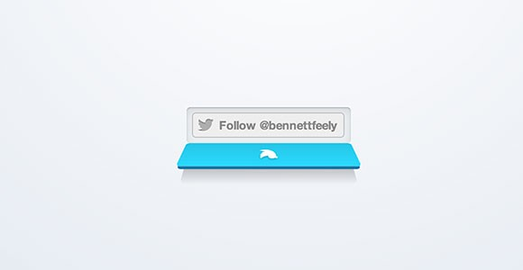 CSS animated Twitter button