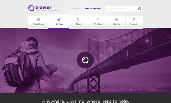 Traveler - free PSD Webdesign