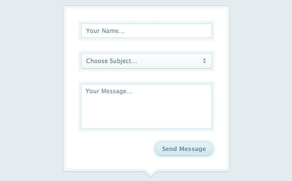 CSS modal contact form