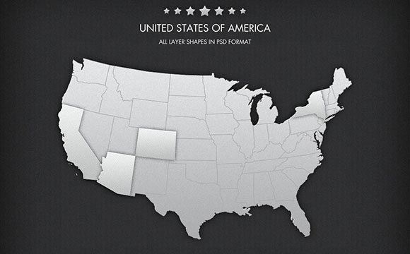 Free PSD USA Map Freebiesbug - Free adobe illustrator us map