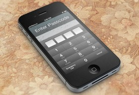 iOS Password Unlock Screen PSD