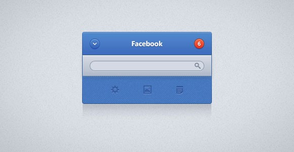 Facebook UI widget PSD