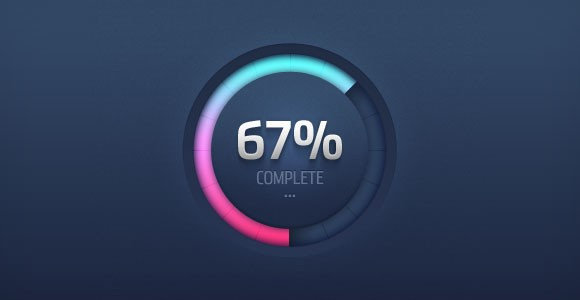 Round progress meter free PSD