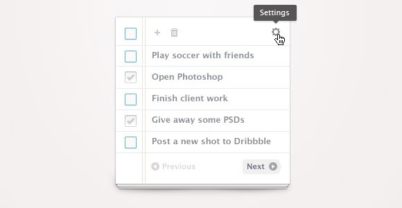 Simple To Do list PSD