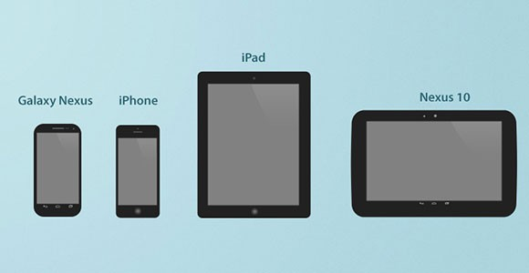 Mobiles and tablets big free PSD icons