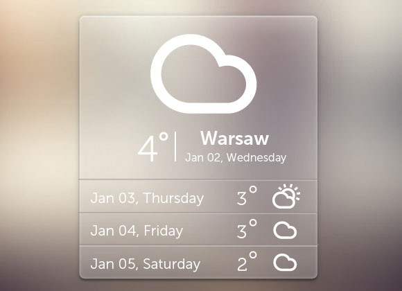 Free PSD weather widget