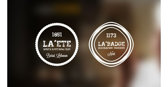 5 free PSD Photo Retro Badges