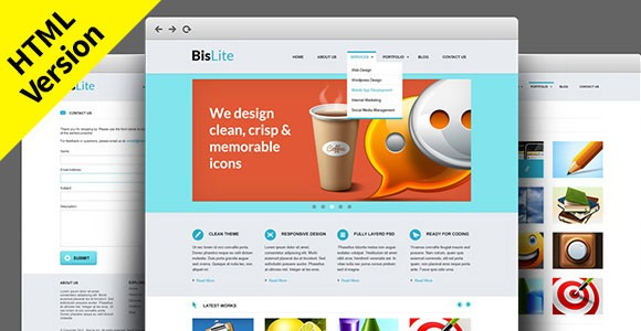 BisLite Free HTML Website Templates Freebiesbug