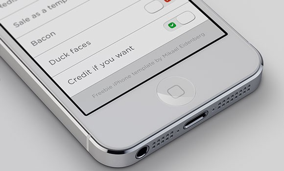 iPhone5 PSD mockup template
