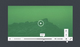 Free PSD flat and minimal video player