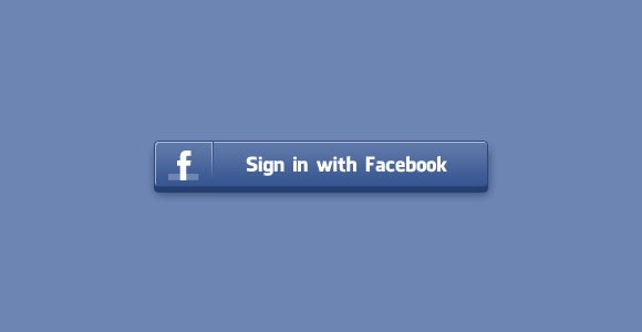 Free PSD 3D style sign in Facebook button