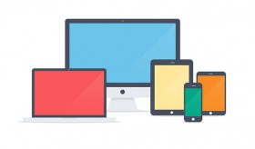 Flat Apple devices icons PSD