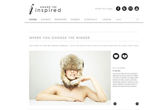 Award The Inspired clean PSD website