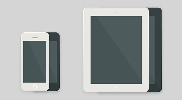 iPhone & iPad flat PSD mockups
