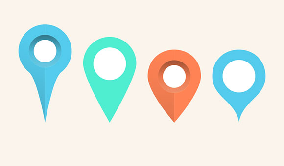 Free Google Maps Pointer Icon: Map Pins & Markers PSD