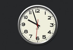 Pure CSS3 wall analog clock